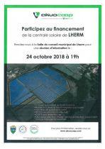 Participez au financement de la centrale photovoltaïque