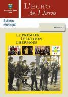 Couverture du Journal Echo de Lherm n°48 - Décembre 2009