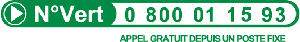 numéro vert : 0 800 01 15 93