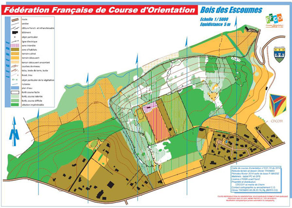 Plan de course d'orientation